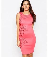Michelle Keegan Loves Lipsy - Kleid mit Blumenverzierung - Orange