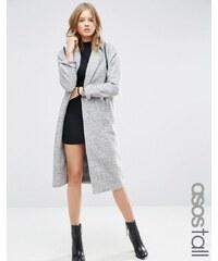 ASOS Tall - Manteau mi-long à manches chauve-souris - Gris