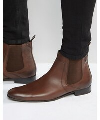 Base London - Forbes - Bottines Chelsea en cuir - Fauve