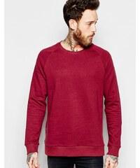 Weekday -Paris Neps - Rotes Sweatshirt mit Rundhalsausschnitt mit mehrfarbigem Noppenmuster - Rot