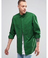 Weekday - Blood - Chemise coupe classique à 2 poches - Vert - Vert