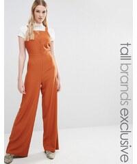 Fashion Union Tall Fashion Union - Combinaison boutonnée - Jaune