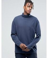 ADPT - Jersey-Sweatshirt mit Rollkragen - Marineblau