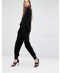Religion - Pantalon de survêtement de luxe en suédine - Noir