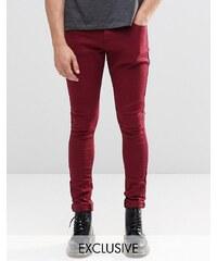 Liquor & Poker - Superenge Jeans in Weinrot - Rot