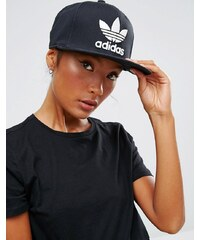 Adidas Originals - Casquette réglable style camionneur avec logo trèfle - Noir