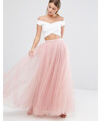 Little Mistress - Robe longue en tulle - Rose