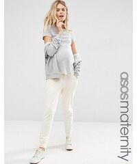 ASOS Maternity - Pantalon de jogging confort style sarouel - Crème
