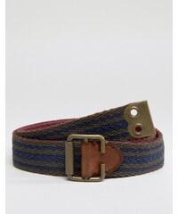 Abercrombie & Fitch - Wendbarer Stoffgürtel - Marineblau