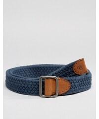 Abercrombie & Fitch - Gewebter Baumwollgürtel - Blau
