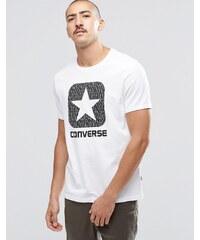Converse - 10002801-A01 - T-shirt avec logo réfléchissant - Blanc - Blanc