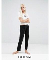 Adolescent Clothing - No Bra Day - Ensemble pyjama haut court et pantalon - Crème