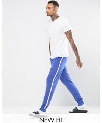 ASOS Loungewear - Pantalon de jogging skinny rayé sur le côté - Bleu et blanc - Multi