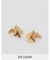 DesignB London DesignB - Boutons de manchette motif flèche - Doré - Doré