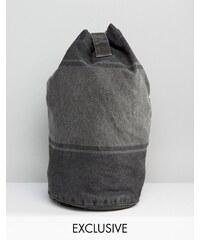 Reclaimed Vintage - Sac à dos bourse à rayures surteintes - Noir