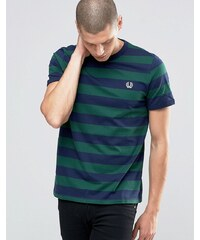 Fred Perry - T-shirt rayé - Lierre/Bleu carbone - Vert