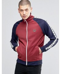 Fred Perry Sports Authentic Track Jacket With In Maroon - Rot