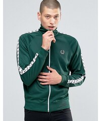 Fred Perry Sports Authentic Track Jacket In Ivy - Grün