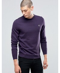 Fred Perry - Pull ras du cou - Cassis chiné - Violet