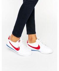 Nike - Cortez - Baskets classiques en cuir - Blanc et rouge - Blanc