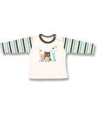 Lafel Chlapecké tričko Sova - béžové