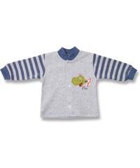 Lafel Chlapecký kabátek Dino - šedo-modrý