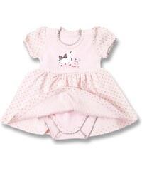 Lafel Dívčí body/šaty Cat - růžové