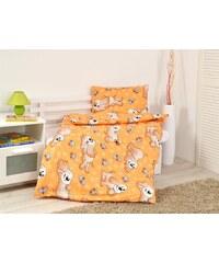 B.E.S. Petrovice Dětské povlečení - Dog Orange bavlna,90x130