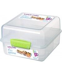 Sistema Velký box na oběd, 1,4 l - zelený