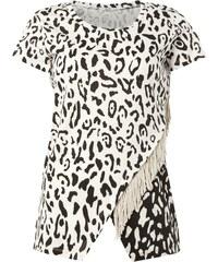 Liu Jo Jeans Shirt mit Fransen und Leopardenmuster