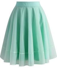 Chicwish TUTU kolová sukně Zmrzlina, mintová