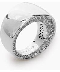 Esprit Leštěný kovový prsten se zirkony