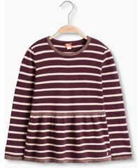 Esprit Bavlněný pruhovaný svetr, lesklý efekt
