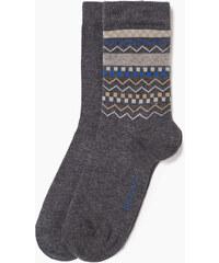 Esprit 2 paires de chaussettes, uni et à motif