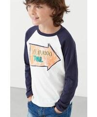 Mango Kids - Dětské tričko s dlouhým rukávem Trail 104-164 cm