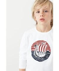 Mango Kids - Dětské tričko s dlouhým rukávem 104-164 cm