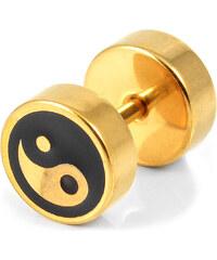 Trendhim 8mm Zlatý falešný plug Yin Yang L8-3-4499