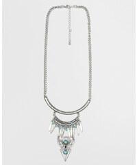 Collier sautoir avec perles gris argenté, Femme, Taille 00 -PIMKIE- MODE FEMME