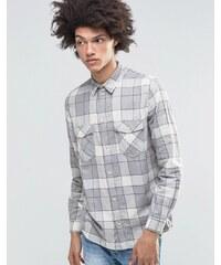 Weekday - West - Chemise à carreaux en flanelle - Gris - Gris