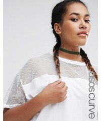 ASOS CURVE - Basic - Collier-Halskette aus Samt - Grün