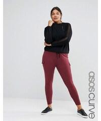 ASOS CURVE - Enge Stretch-Hose mit aufgesetzten Taschen - Rot