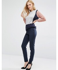 Y.A.S - Ecco - Pantalon cigarette - Bleu marine