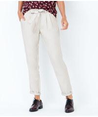 Pantalon carotte avec ceinture fluide Etam