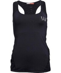 ELLE SPORT Damen Mesh Panelled Reflective Support Top Schwarz