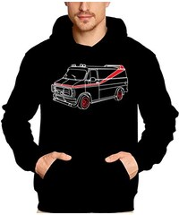 Coole-Fun-T-Shirts Sweatshirt A-TEAM VAN - BUS - HOODIE