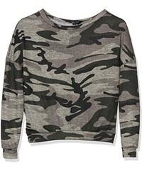 915 New Look Mädchen Sport Pullover Camo Crop