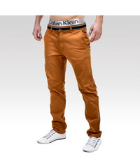 Ombre Clothing kalhoty Daedalus hnědé.