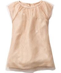 bpc bonprix collection Robe en tulle pailletée, T. 80-134 beige manches courtes enfant - bonprix