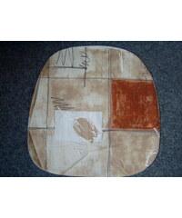 Dadka Povlak na kuchyňský sedák béžový s květy 40x40 cm