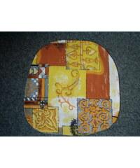 Dadka Povlak na kuchyňský sedák hnědožlutý s ornamenty 40x40 cm